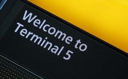 Zeichen des Terminal-5 Lizenzfreie Stockbilder