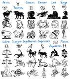 Zeichen des Tierkreises Stockfotos