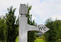 Zeichen des Toilette WC Lizenzfreies Stockfoto