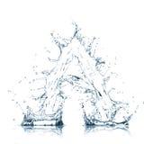 Zeichen des Wasseralphabetes Lizenzfreie Stockfotografie