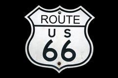 Zeichen des Weg-66 Stockfoto