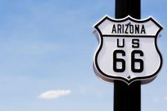 Zeichen des Weges 66 Lizenzfreies Stockfoto