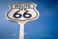 Zeichen des Weges 66 Stockbild
