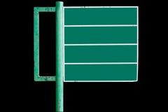 Zeichen, die das Grün bekanntmachen. Stockfotos