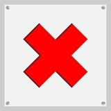 Zeichen, die das Verbot des Eintritts anzeigen Lizenzfreie Stockfotografie