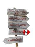 Zeichen, die Richtung anzeigen Stockfotos