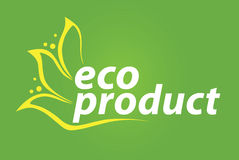 Zeichen Eco Produkt Vektor Abbildung