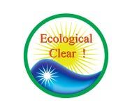 Zeichen 21 Ecolocical-freien Raumes lizenzfreie abbildung