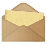 Zeichen in einem Umschlag stockbilder