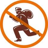 Zeichen eines Einbrechers oder des Diebes stock abbildung