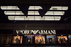 Zeichen Emporio Armani Lizenzfreie Stockbilder