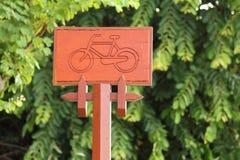 Zeichen für das Fahrrad Lizenzfreie Stockfotografie