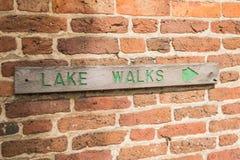 Zeichen für die See-Wege Lizenzfreie Stockbilder
