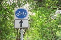 Zeichen für Fahrradweise Stockfotografie