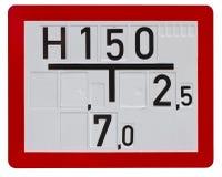 Zeichen für Feuerwehrmänner (Beschneidungspfad eingeschlossen) Stockbild