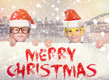 Zeichen für frohe Weihnachten lizenzfreie stockbilder