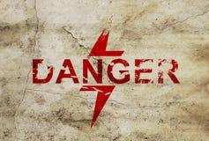 Zeichen für Gefahrenzone Stockbild
