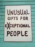 Zeichen für Geschenke stockfotografie