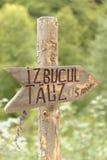 Zeichen für Izbucul Tauz See, Apuseni-Berge, Rumänien Lizenzfreie Stockbilder