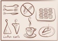 Zeichen für Kaffee Stockfotos
