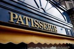 Zeichen für Patisserie in Frankreich stockbilder