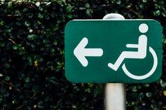 Zeichen für Personen mit Unfähigkeit Stockbilder