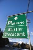 Zeichen für Pfeifer Blackcomb. Stockfotos
