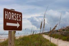 Zeichen für Pferde Stockfotografie