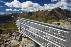 Zeichen für trekkers Stockbild