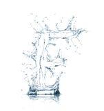 Zeichen F des Wasseralphabetes Stockfoto
