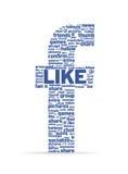 Zeichen F mit Sozialwörtern Lizenzfreie Stockfotos