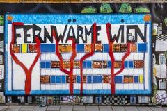 Zeichen Fernwaerme Wien in Wien Stockfotografie