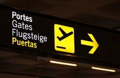 Zeichen am Flughafen Lizenzfreies Stockbild