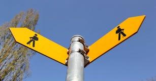 Zeichen für Wanderer Stockfotografie