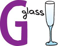 Zeichen G - Glas Lizenzfreies Stockfoto