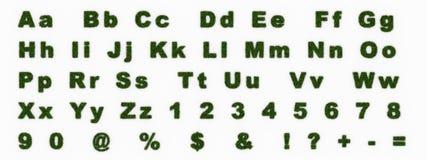 Zeichen gebildet vom Gras lizenzfreie abbildung