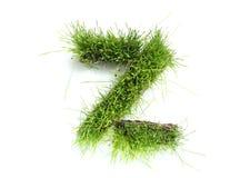 Zeichen gebildet vom Gras Stockfotografie