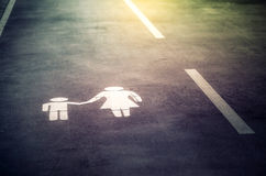 Zeichen gemalt auf der Straße Lizenzfreies Stockbild