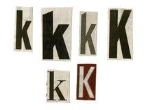 Zeichen geschnitten vom Zeitungspapier lizenzfreies stockfoto