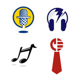 Zeichen-Grafiken für Musik-Industrie Lizenzfreies Stockfoto