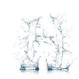Zeichen H des Wasseralphabetes Lizenzfreies Stockfoto