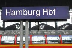 Zeichen Hamburgs Hauptbahnhof Lizenzfreies Stockfoto