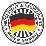 Zeichen hergestellt in Deutschland Hergestellt in Deutschland Lizenzfreie Stockfotos