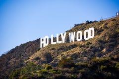 Zeichen Hollywood Kalifornien lizenzfreie stockfotos