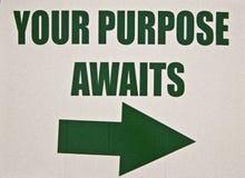 Zeichen-Ihre Zweck-Wartezeiten Lizenzfreies Stockbild