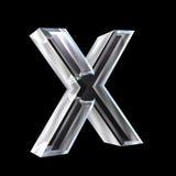 Zeichen X im Glas 3D Stockfoto