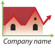 Zeichen-Immobilienmarkt Lizenzfreie Stockbilder