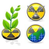 Zeichen ist eine Strahlung und eine Ökologie Lizenzfreies Stockfoto