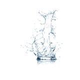 Zeichen J des Wasseralphabetes Stockfotos