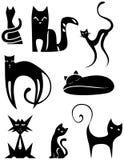 Zeichen-Katzen Stockfoto